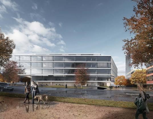 Auf einer Fläche von 15'500 Quadratmetern werden 400 bis 500 Personen arbeiten können. (Visualisierung)