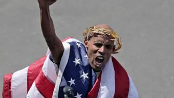 Meb Keflezighi gewann das Rennen als erster US-Athlet seit 1983