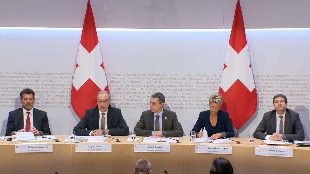 EU-Rahmenabkommen: Bundesrat will zuerst Klärung