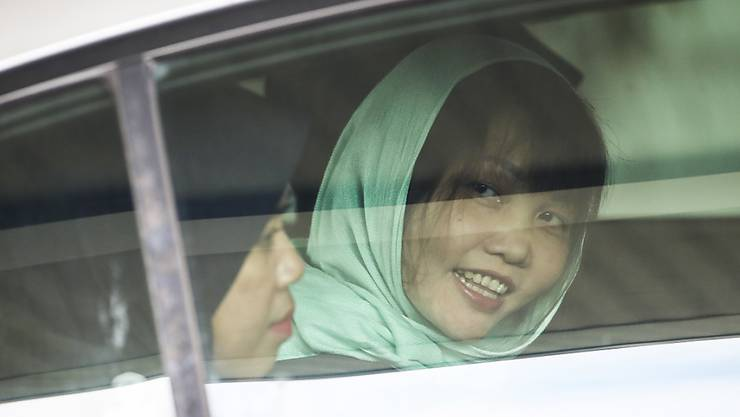 Wurde aus dem Gefängnis entlassen: Die Vietnamesin Doan Thi Huong, die das tödliche Gift-Attentat gegen den Halbbruder von Nordkoreas Machthaber Kim Jong Un mitverübt hat.