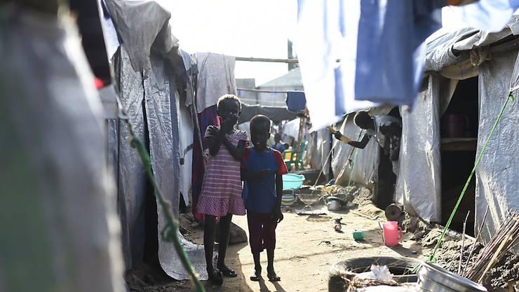Kinder in einem Flüchtlingslager in Juba (Archiv)