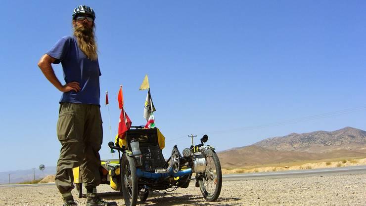 Der gebürtige Urdorfer und nun Weltenbummler David Brandenberger begab sich mit seinem Solartrike auf Weltreise.