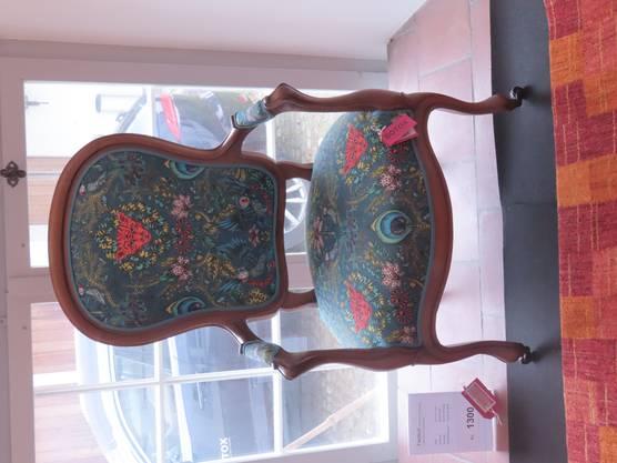 Ein alter Stuhl im modernen neuen frischen und frechen Look.