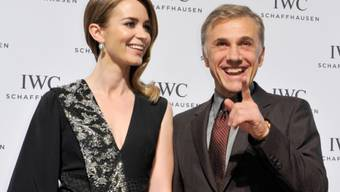 Emily Blunt und Christoph Waltz am Dienstagabend in Genf