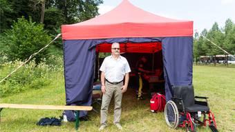 Andy Waldmeier, Präsident des Militärsanitätsvereins Aarau, war am Maienzug vor Ort, musste aber nicht anpacken. Severin Bigler
