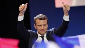 Mit mehr als 65 Prozent der Wählerstimmen wählten die Franzosen Emmanuel Macron zu ihrem neuen Präsidenten. (Archivbild)