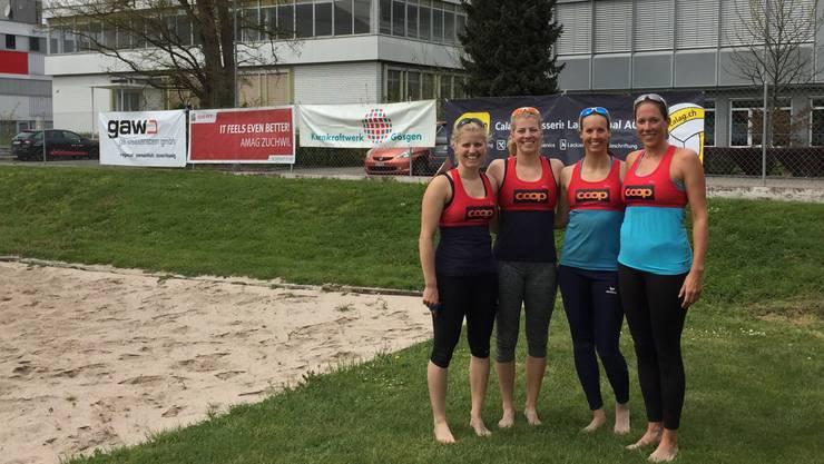 Bei den Frauen gewann das Schwesternduo Dietrich/Dietrich in einem spannenden Finalspiel in drei Sätzen gegen das Team Rau/Greber.