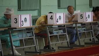 Die Mongolen waren aufgerufen, über die Zusammensetzung des neuen Parlaments zu bestimmen