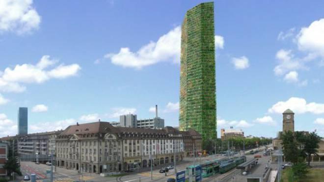 Der Architekt Heinrich Degelo schlug bereits 2005 ein 200 Meter hohes Holz-Hochhaus vor. Bild: ZVG