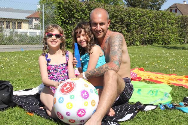 Andy Schulthess verbrachte den Nachmittag mit seinen Töchtern in der Badi.