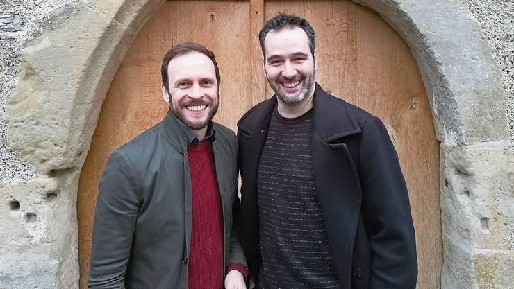 Regisseur Simon Eichenberger und Co-Regisseur Hannes Muik (l.) am Samstag im Schloss Hallwyl. Simon Eichenberger 2012 als Choreograf von «Titanic» bei den Thunerseespielen.