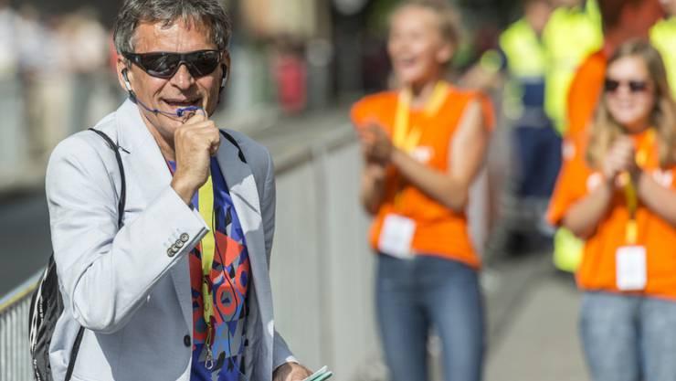 Der ehemalige Spitzenläufer Markus Ryffel hat keine Angst mehr vor Hunden. Nach wie vor joggt er und organisiert Volksläufe wie hier 2015 den Schweizer Frauenlauf. (Archiv)