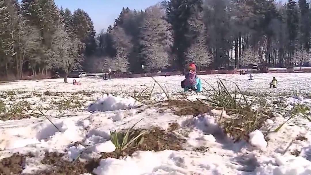 Wenig Schnee, viel Freude