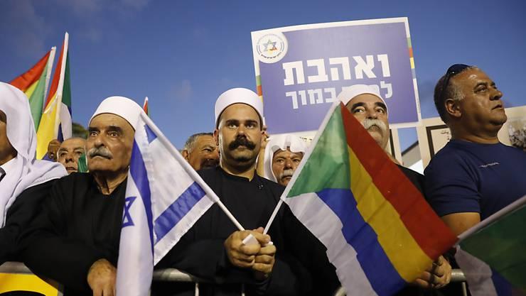 Drusischer Protest in Tel Aviv.