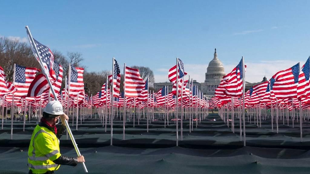 Field of Flags: 190'000 US-Flaggen für Bidens Vereidigung aufgestellt