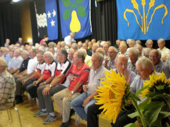 Die geehrten 75-jährigen Turnveteranen