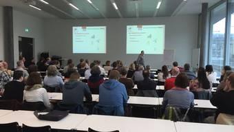 Rund 70 Teilnehmerinnen und Teilnehmer engagierten sich am Workshop des SOBV in der Fachhochschule in Olten.