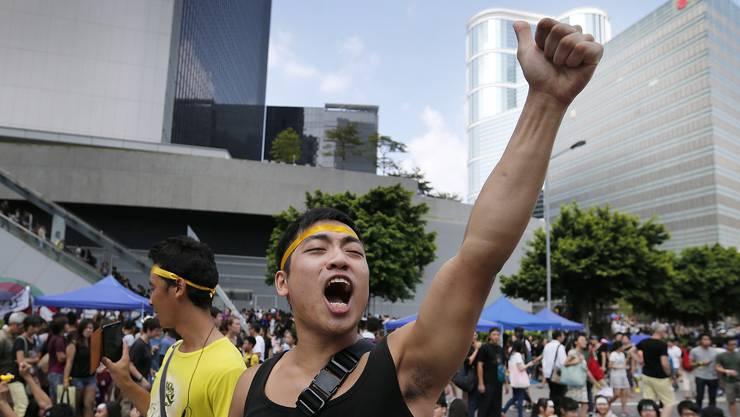 Die Demonstrationen gehen auch am chinesischen Nationalfeiertag weiter