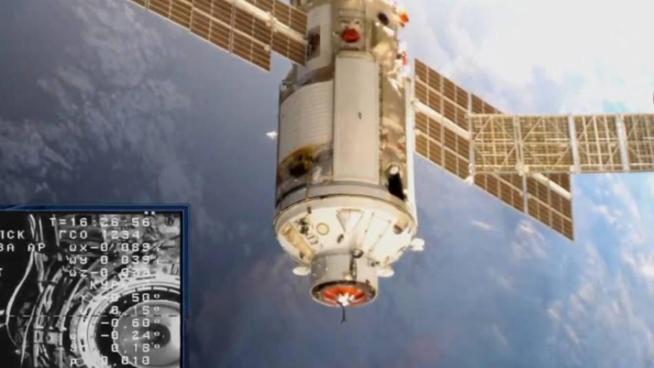 Das russische Forschungsmodul kam am Donnerstag bei der internationalen Raumstation ISS an.
