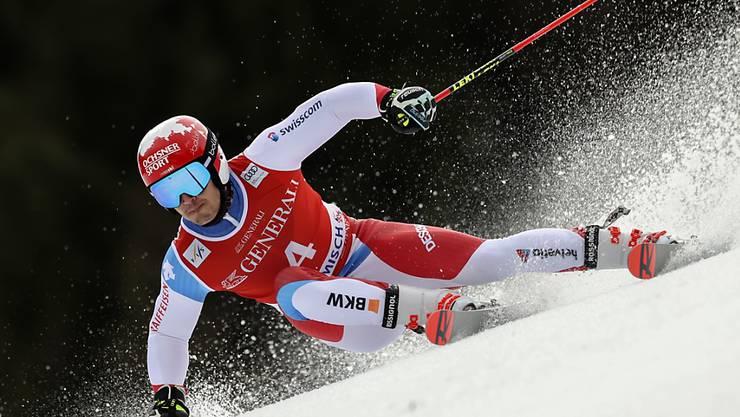 Loïc Meillard kommt mit den schwierigen Verhältnissen im Riesenslalom von Garmisch am besten zurecht