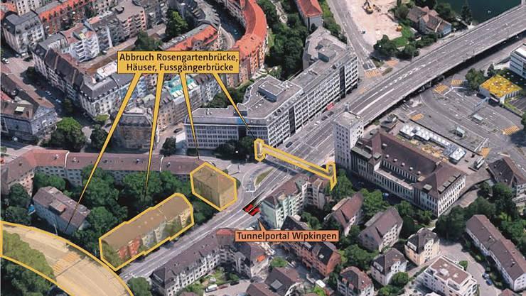Grafik: Rosengartentunnel