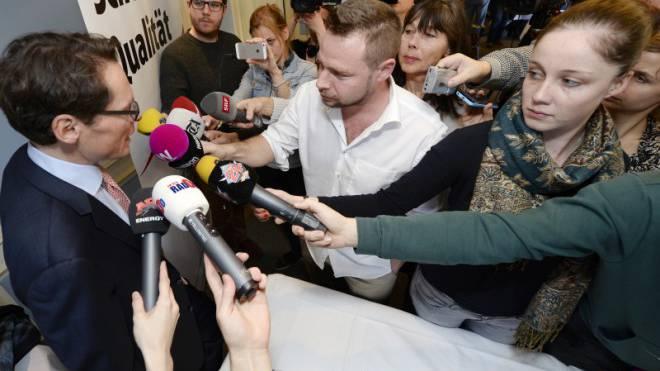 Junge Journalisten werden wieder politischer: Grosses Medieninteresse bei der Bekanntgabe der SVP-Nationalratskandidatur von Roger Köppel. Foto: Key