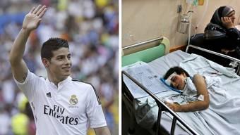 Real Madrid zahlt 100 Millionen Franken für James Rodriguez - einem Spital in Gaza fehlt das Geld für Medikamente.