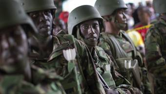 Kenianische Soldaten in Garissa
