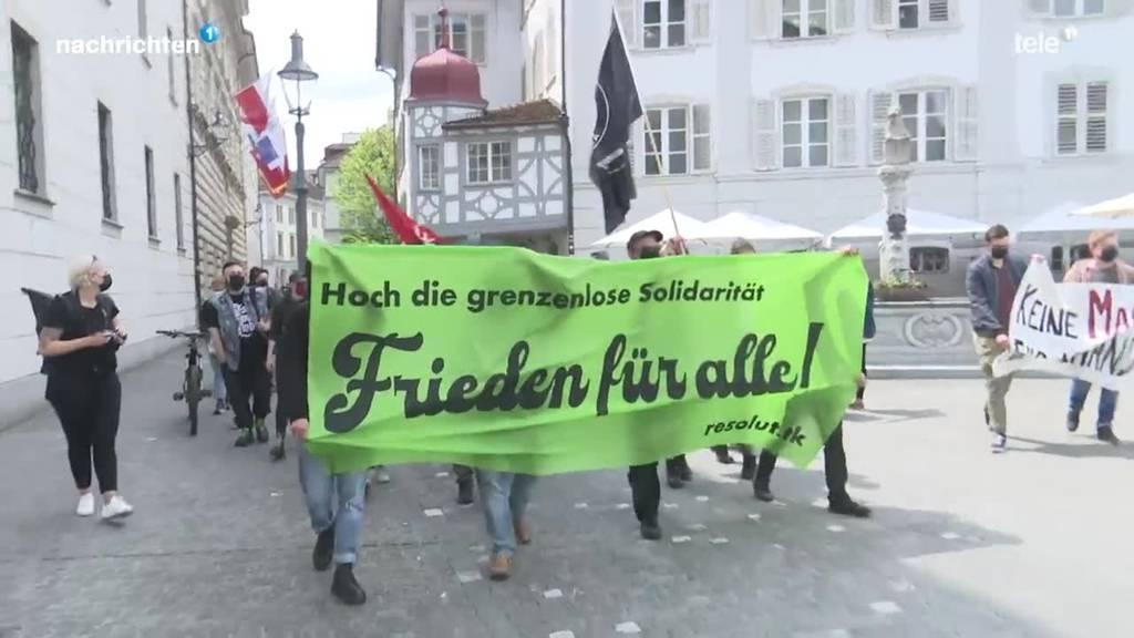 Anti-Kriegs-Demo in Luzern