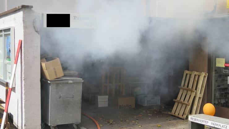 Aufgrund des Brandes kam es zu einer starken Rauchentwicklung.