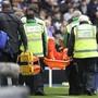 Hugo Lloris kann bei der 0:3-Niederlage von Tottenham das Spielfeld nicht aus eigener Kraft verlassen