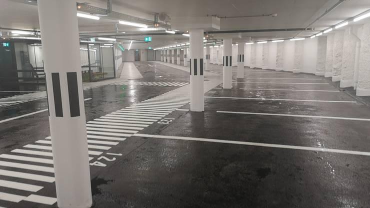 Kasino Parking unmittelbar vor der Wiedereröffnung.