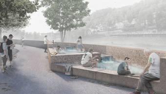 So wird das Thermalwasser-Becken in Baden aussehen