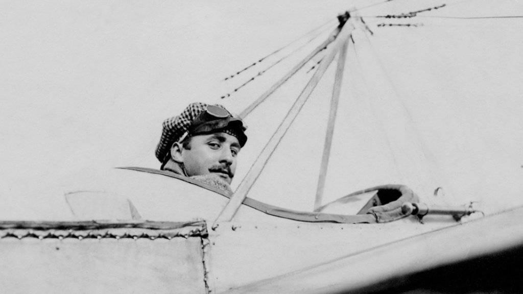 Vor 100 Jahren stürzte der Schweizer Flugpionier Oskar Bider in den Tod. Er hatte als erster den Alpenhauptkamm überflogen.