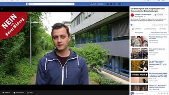Das Abstimmungskomitee «Pro Bildungsrat» finanziert Werbung auf Facebook. Im Bild: SP-Landrat Jan Kirchmayr.