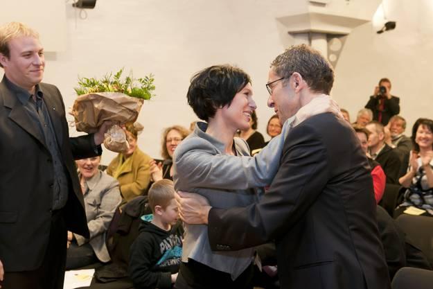 Justizdirektor Urs Hofmann ist der erste Gratulant