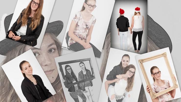 Collage aus am Ferienspass fotografierten Portraits