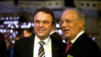 Bundesrat Johann Schneider-Ammann mit dem deutschen Landwirtschaftsminister Hans-Peter Friedrich (links) KEY