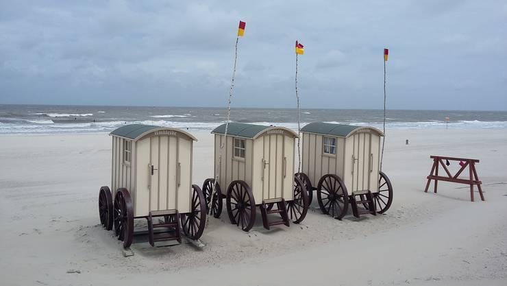Umkleidekabinen am Strand von Norderney