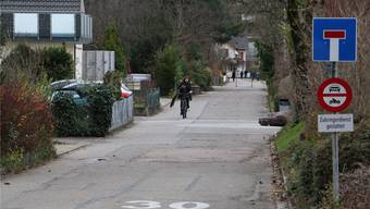 Die grenzüberschreitende Veloverbindung führt unter anderem auf Steiner Seite über die Schulstrasse. DKA/Archiv