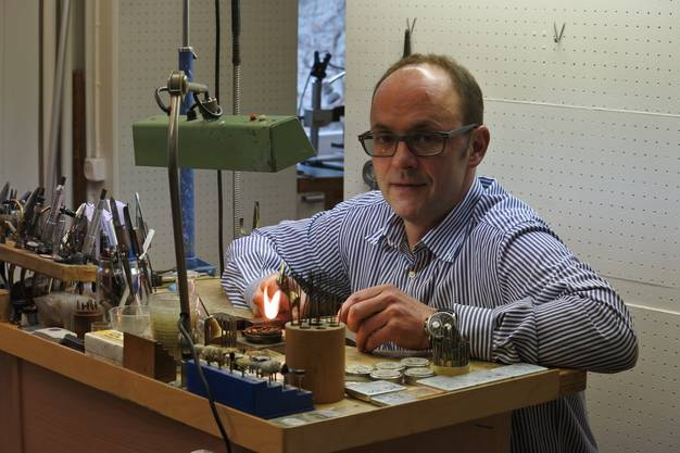 Rainer Sorg, Geschäftsführer von der Uhrenbijouterie Droz in Zofingen
