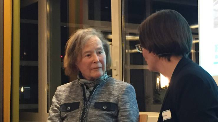 Elisabeth Kopp im Gespräch mit Jeanine Glarner.uhg