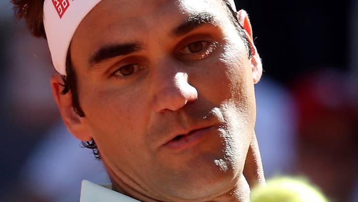 Gegen einen starken Dominic Thiem hauchdünn gescheitert: Roger Federer in Madrid