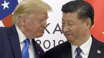 Da sah es noch nach Tauwetter aus: US-Präsident Donald Trump und Chinas Präsident Xi Jinping beim G-20-Gipfel in Osaka, Japan, Ende Juni. (AP Photo/Susan Walsh)