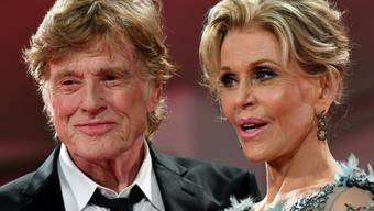 "Robert Redford und Jane Fonda vor der Premiere ihres Films ""Our Souls at Night"" am 74. Internationalen Filmfestival in Venedig."