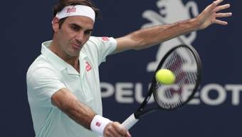 Roger Federer zieht in Miami problemlos in die Viertelfinals ein