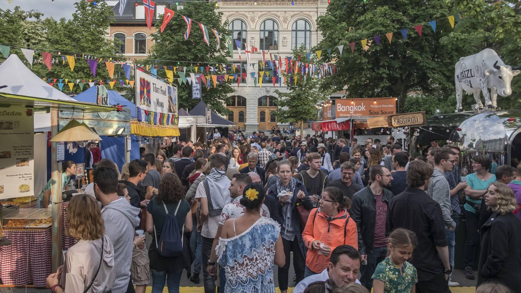 Vom 9. - 11. Juli findet in St.Gallen wieder das Streetfood-Festival statt. (Bild: Streetfood-Festival St.Gallen 2019)
