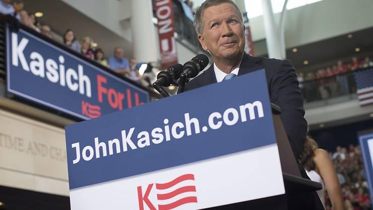 Der Gouverneur des Bundesstaates Ohio, John Kasich, kündigt seine  Bewerbung als US-Präsidentschaftskandidat der Republikaner an