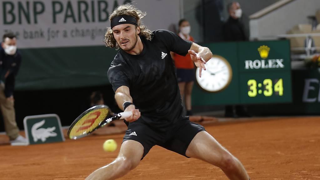 Stefanos Tsitsipas holt beim French Open die notwendigen Punkte für die Teilnahme bei den ATP-Finals.