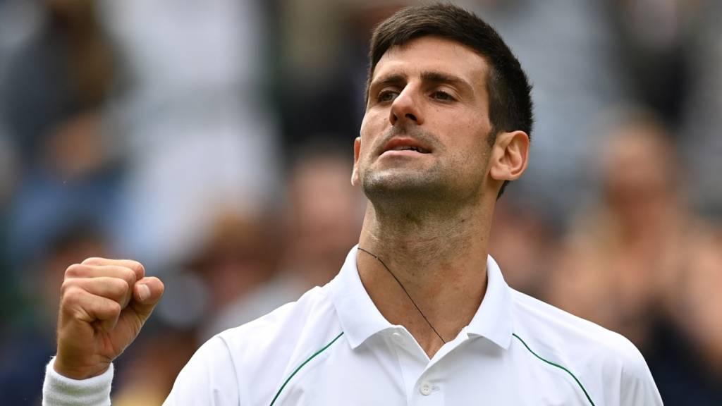 Ein guter Tag bei der Arbeit: Novak Djokovic steht in Wimbledon wie erwartet im Viertelfinal